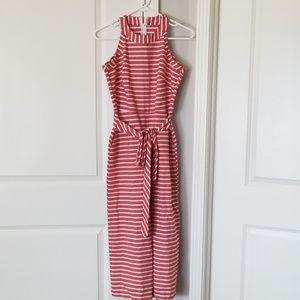 Pants - Red and white jumpsuit